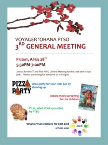 ptso general meeting pm pm voyager public