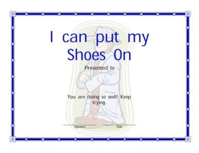 put   shoes certificate certificate templates