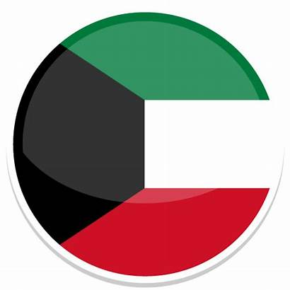 Kuwait Icon Round Flag Flags Country Map