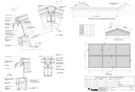 royalite skylight drawing index