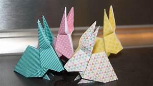Faire Des Origami : comment faire un origami lapin ou lapin en papier youtube ~ Nature-et-papiers.com Idées de Décoration