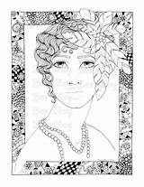 Flapper Coloring Pages Etsy Adult Printable Colour sketch template