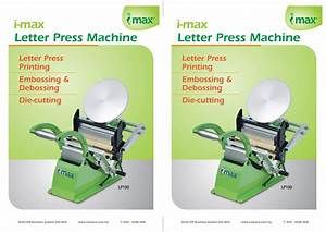 letter press i max ace With letter machine press