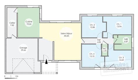 une maison originale de plain pied detail du plan de une