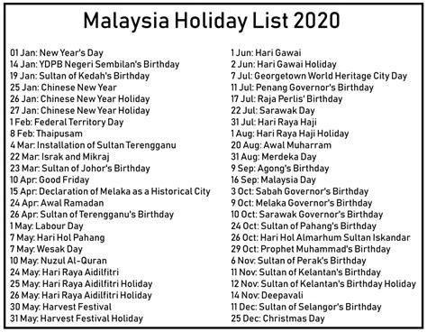 malaysia holidays calendar templates excel word