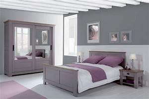Chambre Coucher Moderne Whitney Chene Massif