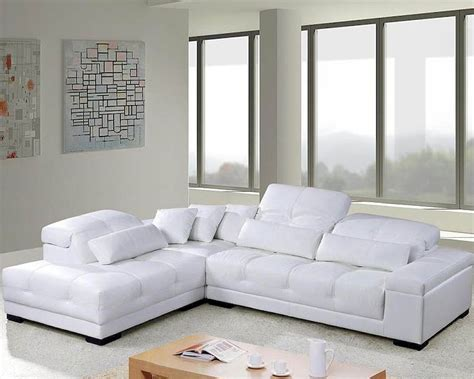 modern tufted leather sectional sofa set