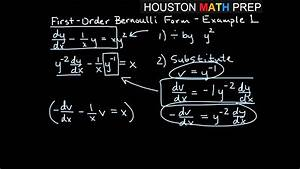 Bernoulli First Order Equations - Example 1