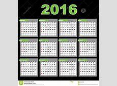 2016 Calendar stock vector Illustration of annual