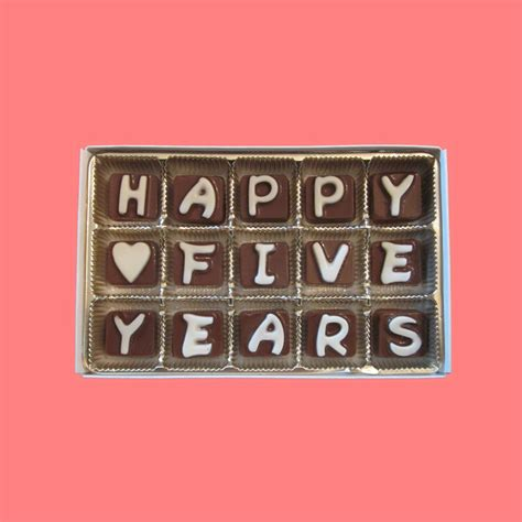 happy  years cubic chocolate letters   candy