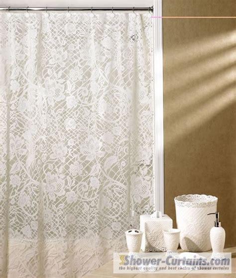 lace shower curtains lace shower curtain bathroom pinterest
