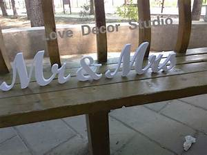 mr mrs letters wedding table decoration freestanding With mr and mrs freestanding letters