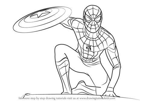spiderman civil war drawing  getdrawingscom