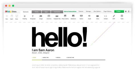 design your website zoho create a free website and get free hosting