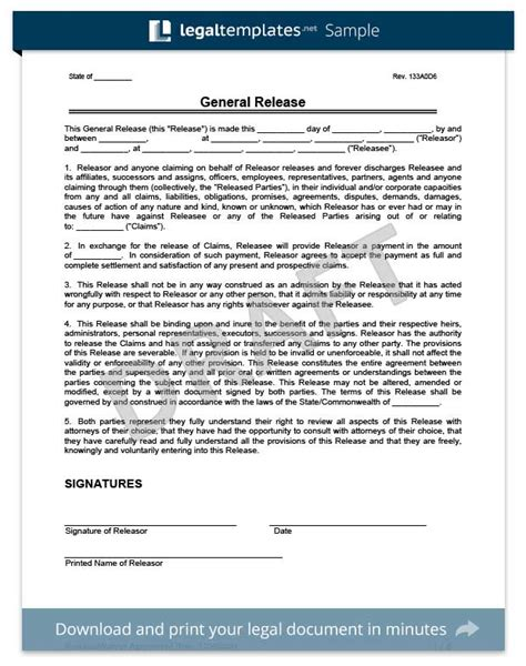 auto accident release of liability form pdf liability release form template business