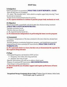 sample occupational therapy soap note google search With soap notes counseling template