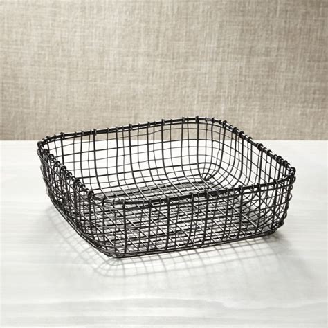 Bendt Iron Square Basket   Reviews   Crate and Barrel