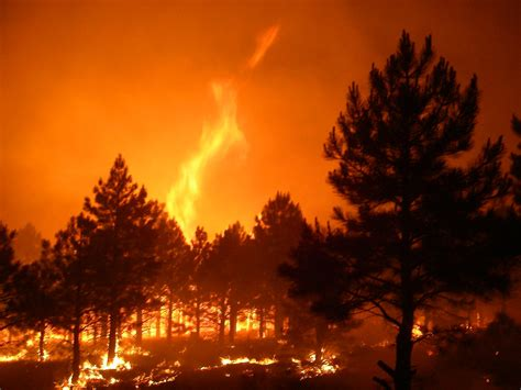 warm fire  shooting flames north kaibab district