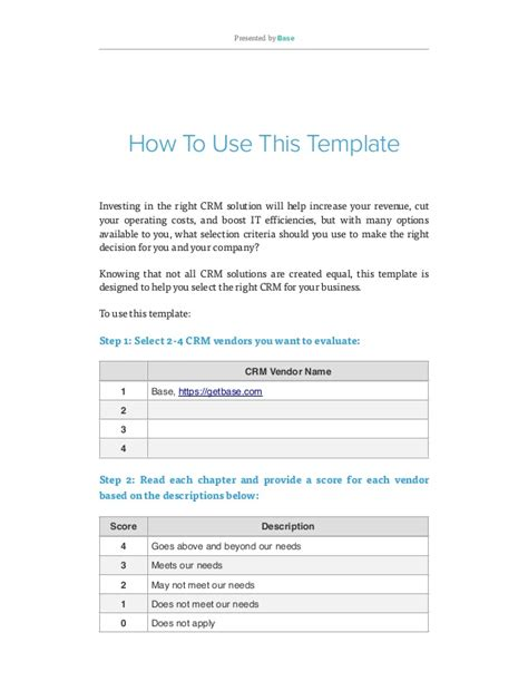 Crm Requirements Template by How To Evaluate Crm Software Free Crm Requirements Template