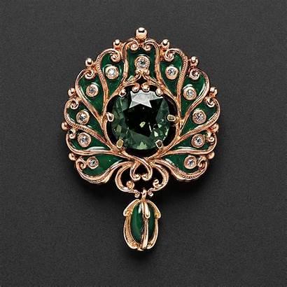 Jewelry Marcus Nouveau Company Alexandrite Brooch Pendant