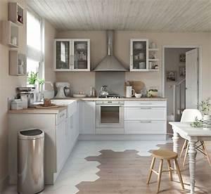 meuble de cuisine nos modeles de cuisine preferes cote With porte d entrée pvc avec papier peint vinyle salle de bain 4 murs