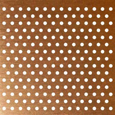 perforated copper plate accurate perforating  bim