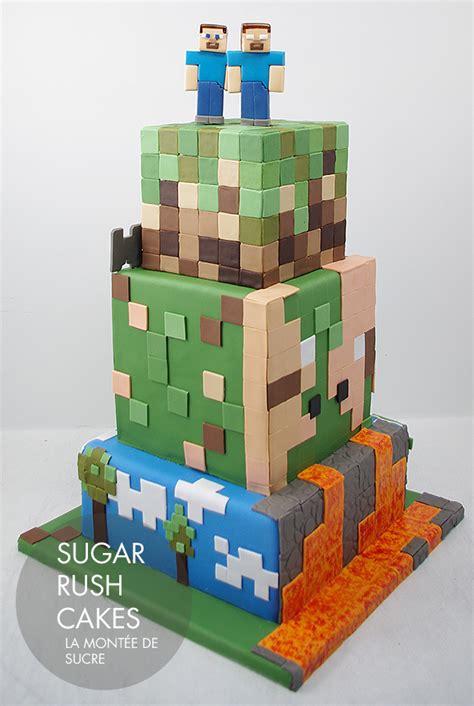 Minecraft Tiered Cake  Sugar Rush Cakes Montreal