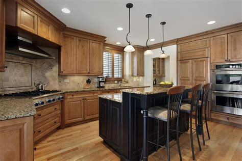 kitchen island butcher block tops gourmet kitchens and cabinets hannegan construction