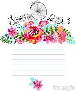 Watercolor Floral Vector Free
