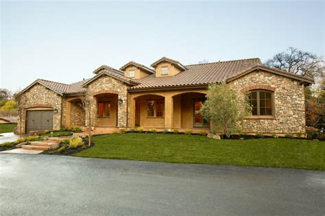 top photos ideas for new one story homes tuscan single story mediterranean exterior other