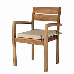 Coussin Fauteuil De Jardin : fauteuil de jardin empilable en teck massif et coussin en ~ Dailycaller-alerts.com Idées de Décoration