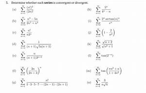 Solved  Determine Whether Each Series Is Convergent Or Div