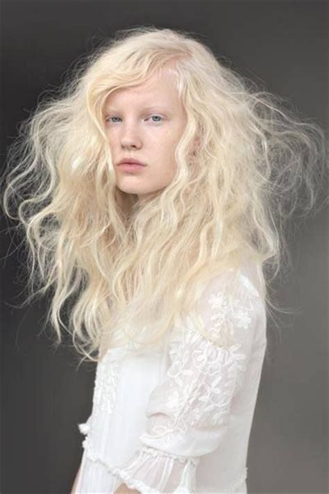 Hair Almost White by Albinism Lipsticks