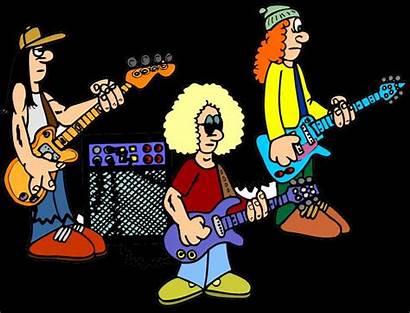 Band Rock Clipart Clip Cartoon Members Blues