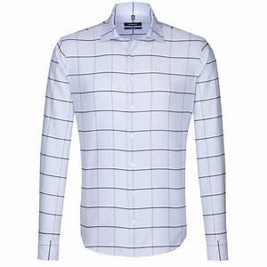 Chemise Homme A Carreau : chemise ajust e printed bleu ciel grand carreau ~ Melissatoandfro.com Idées de Décoration