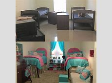 Dorm room before and after Dorm Rooms! Pinterest