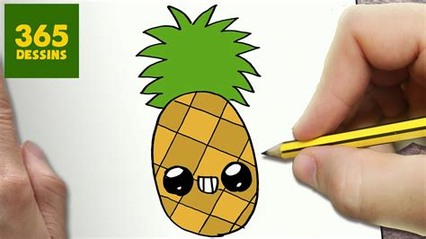 Comment Dessiner Un Ananas Comment Dessiner Ananas Kawaii 201 Par 201 Dessins Kawaii Facile
