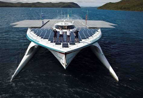 Biggest Boat Ever Designed by World S Largest Solar Powered Ship Docks At Wfes
