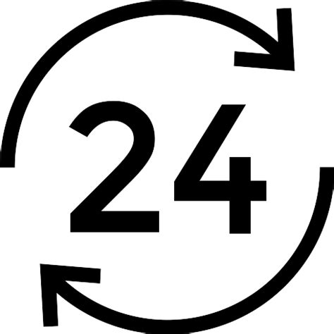 24 Hours  Free Signs Icons