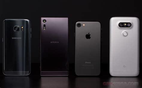 iphone 7 gsmarena iphone 7 vs galaxy s7 vs xperia xz vs lg g5 gsmarena
