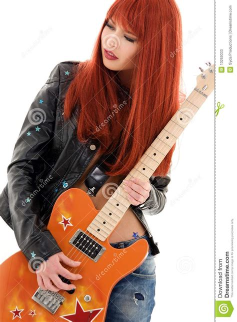guitar babe stock image image  cool hard jeans