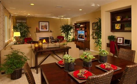 Layout Idea To Separate Living Room / Dining Room Combo Space. Note The Accent Lighting And Use