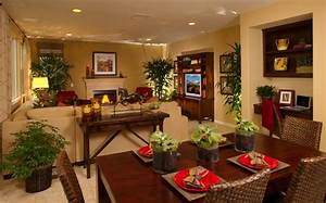 layout idea to separate living room dining room combo With living and dining room combo