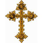 Clipart Cross Orthodox Russian Gold Hand Clip