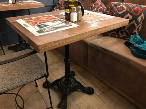 cast iron french bistro tables mortise tenon