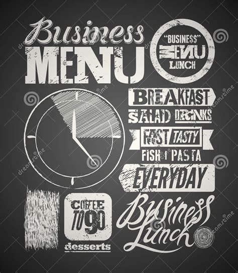 chalkboard menu templates ai docs pages  design