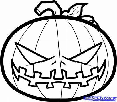 Pumpkin Halloween Draw Step Scary Drawing Fun