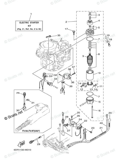 yamaha outboard parts by hp 9 9hp oem parts diagram for optional parts 1 boats net
