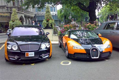 bentley continental flying spur  bugatti veyron