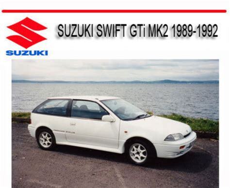 how to download repair manuals 1992 suzuki swift transmission control suzuki swift gti mk2 1989 1992 service repair manual download man